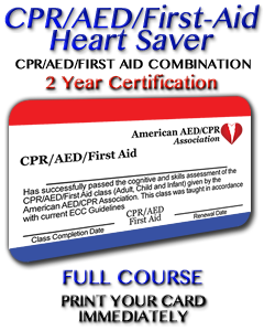 Heartsaver CPR/AED/First-Aid Combination
