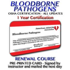 OSHA Bloodborne Pathogens Certification