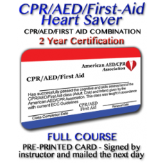 Heartsaver CPR/AED/FIrst-Aid Certification with Instructor signed card