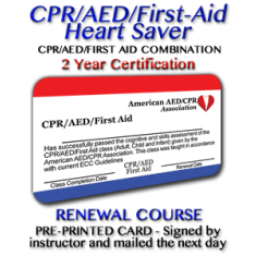 Heart Saver CPR/AED/First-Aid Renewal Class
