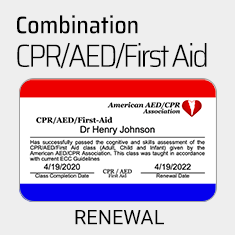 Heart Saver CPR/AED/First-Aid Certification Renewal