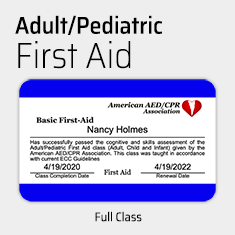 Basic Adult/Pediatric First Aid Training
